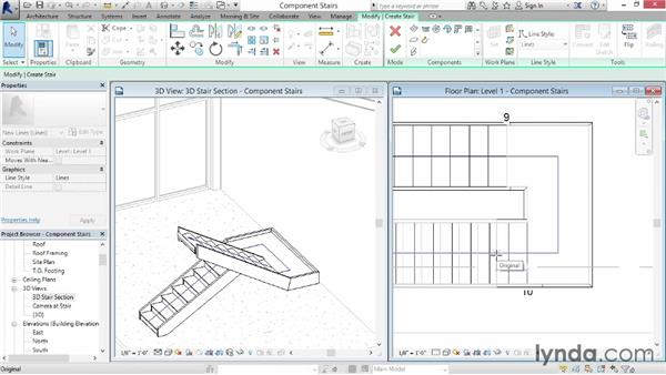Working with component-based stairs: Revit Architecture 2014 Essential Training