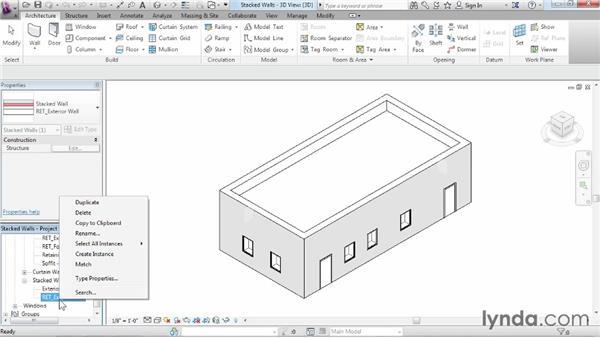 Understanding stacked walls: Revit Architecture 2014 Essential Training