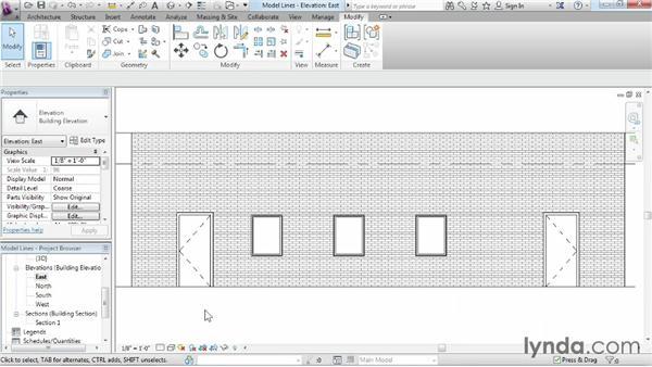 Model lines: Revit Architecture 2014 Essential Training