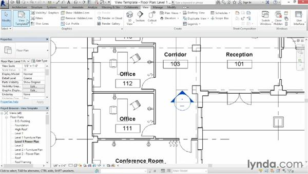 Using view templates: Revit Architecture 2014 Essential Training