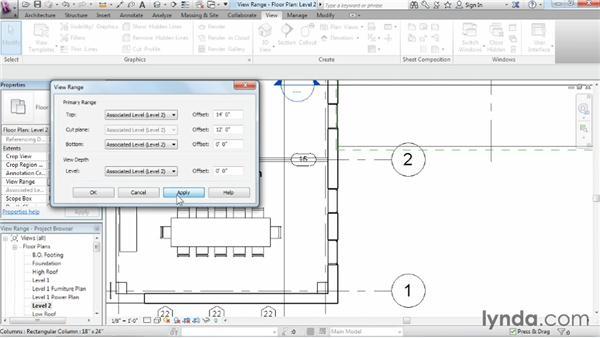 Understanding view range: Revit Architecture 2014 Essential Training