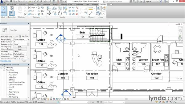 Using the Linework tool: Revit Architecture 2014 Essential Training