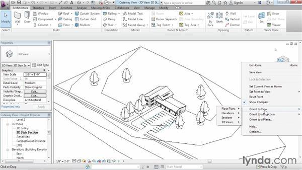 Using cutaway views: Revit Architecture 2014 Essential Training
