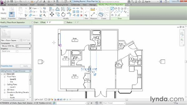 Adding rooms: Revit Architecture 2014 Essential Training