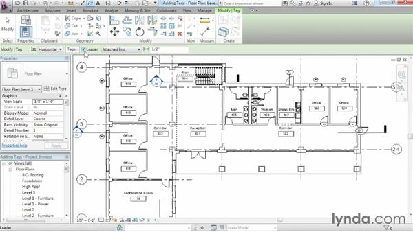 Understanding tags: Revit Architecture 2014 Essential Training
