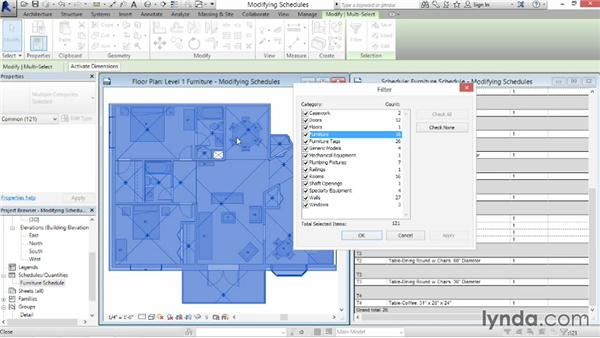 Modifying schedule views: Revit Architecture 2014 Essential Training
