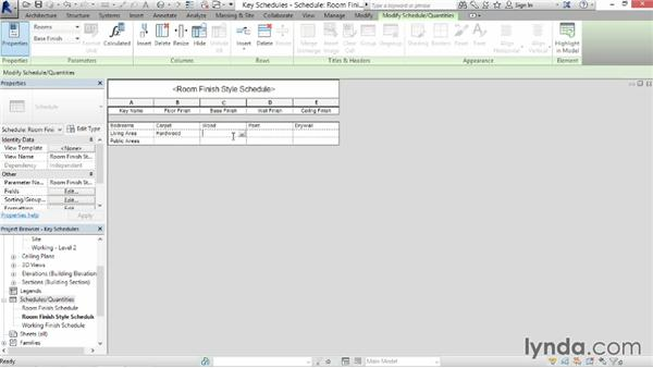 Creating a key schedule: Revit Architecture 2014 Essential Training