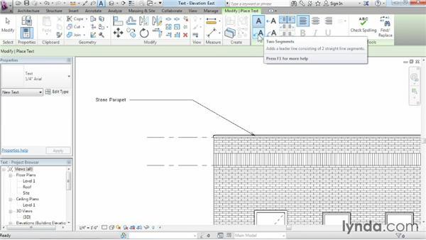 Adding text: Revit Architecture 2014 Essential Training