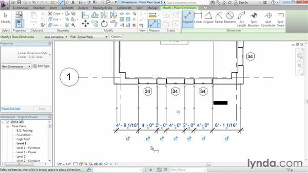 Adding dimensions: Revit Architecture 2014 Essential Training