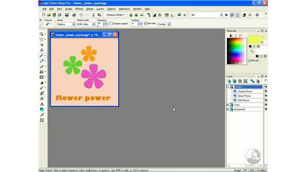 saving and loading selections to disk: Learning Jasc Paint Shop Power Suite Photo Edition