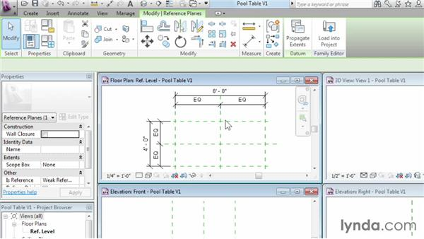 Using reference planes, parameters, and constraints: Revit Architecture 2014 Essential Training