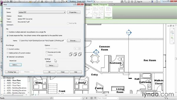 Plotting and creating a PDF: Revit Architecture 2014 Essential Training