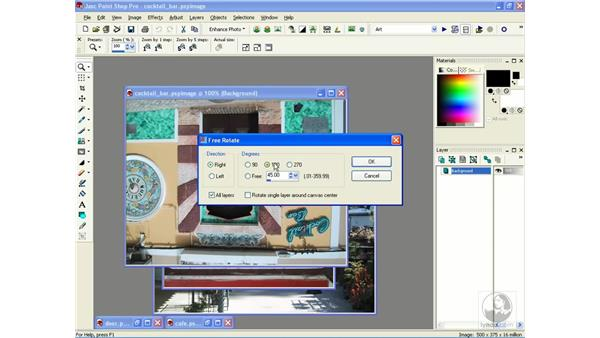 rotating, mirroring and flipping: Learning Jasc Paint Shop Power Suite Photo Edition