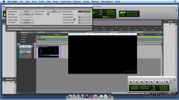 Creating a new session and importing the video/dialogue: Producing Music for Advertisements