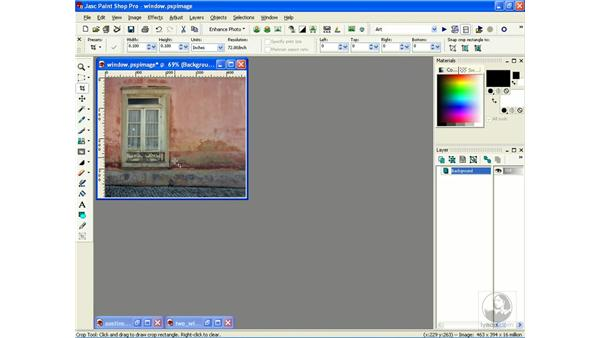correcting perspective: Learning Jasc Paint Shop Power Suite Photo Edition