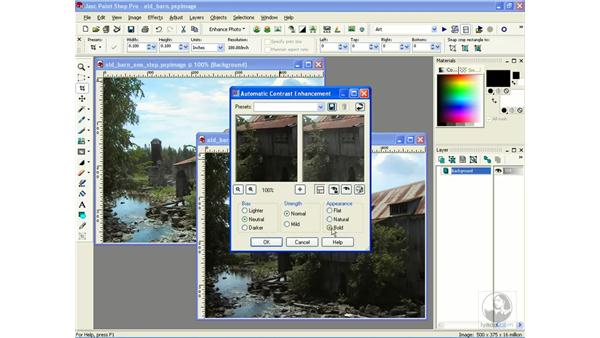 using automatic adjustments: Learning Jasc Paint Shop Power Suite Photo Edition
