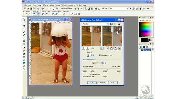 removing color casts: Learning Jasc Paint Shop Power Suite Photo Edition