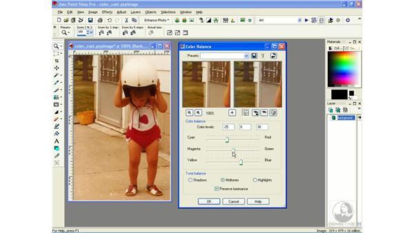 balancing colors: Learning Jasc Paint Shop Power Suite Photo Edition