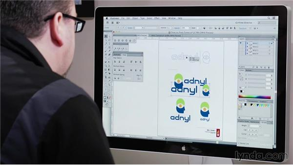 Using close-to-final comps: Foundations of Logo Design