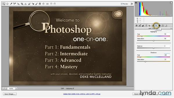 Opening through Camera Raw: Photoshop CC 2013 One-on-One: Fundamentals