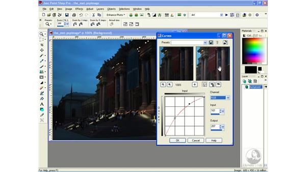 adjusting lighting with curves: Learning Jasc Paint Shop Power Suite Photo Edition