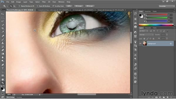 Zooming incrementally: Photoshop CC 2013 One-on-One: Fundamentals