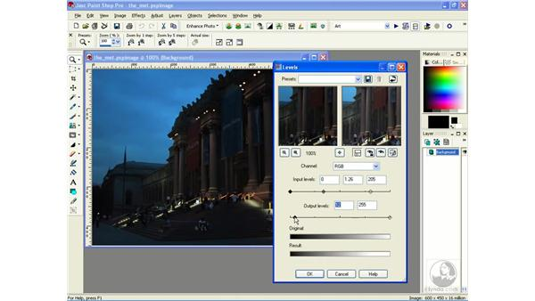 adjusting lighting with levels: Learning Jasc Paint Shop Power Suite Photo Edition