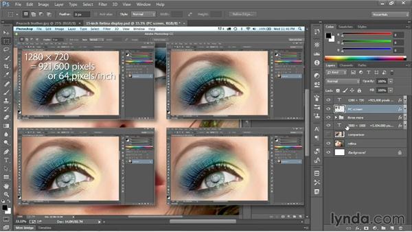 Using Retina and HiDPI displays: Photoshop CC 2013 One-on-One: Fundamentals
