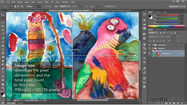 Image size and resolution: Photoshop CC 2013 One-on-One: Fundamentals