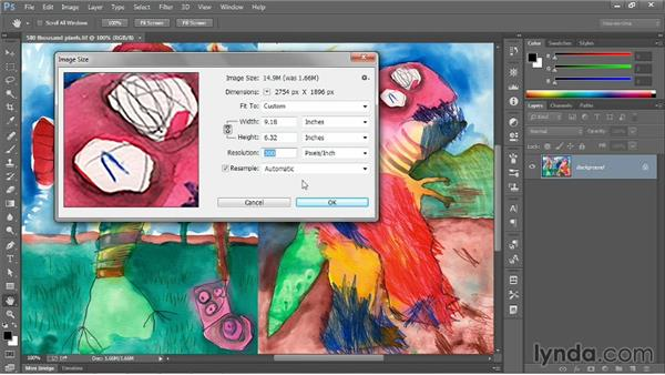 The Image Size command: Photoshop CC 2013 One-on-One: Fundamentals