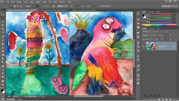 Upsampling vs. real pixels: Photoshop CC 2013 One-on-One: Fundamentals