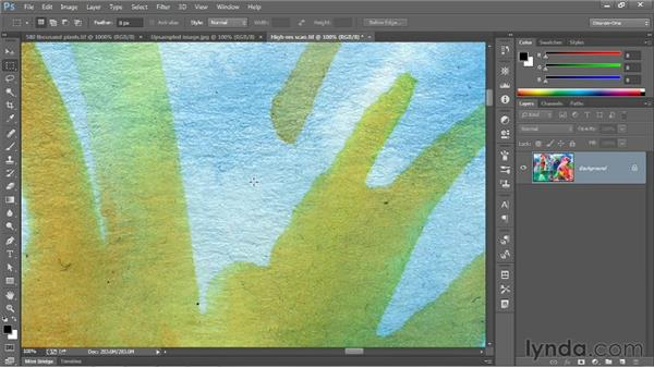 Changing the print size: Photoshop CC 2013 One-on-One: Fundamentals