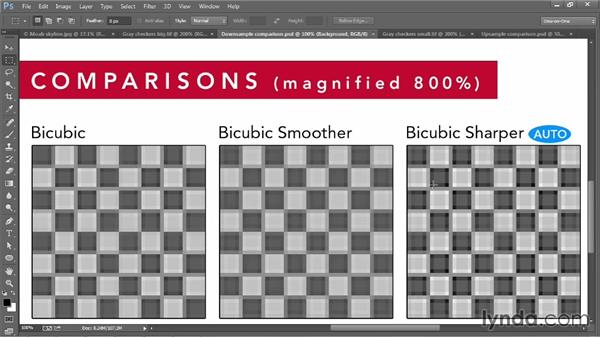 The interpolation settings: Photoshop CC 2013 One-on-One: Fundamentals
