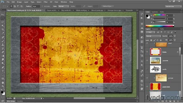 Introducing the Layers panel: Photoshop CC 2013 One-on-One: Fundamentals