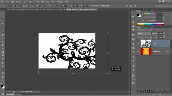 Adding, scaling, and aligning layers: Photoshop CC 2013 One-on-One: Fundamentals