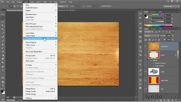 Applying a clipping mask: Photoshop CC 2013 One-on-One: Fundamentals