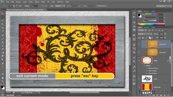 Blending inside a clipping mask: Photoshop CC 2013 One-on-One: Fundamentals