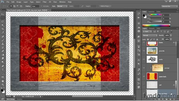 Creating a new layer and background: Photoshop CC 2013 One-on-One: Fundamentals
