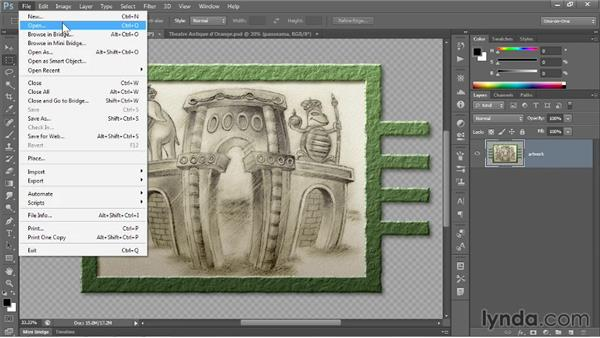 Saving an interactive image to PNG: Photoshop CC 2013 One-on-One: Fundamentals