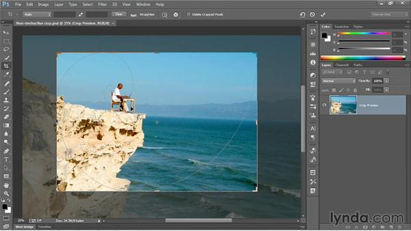 Editing your last crop: Photoshop CC 2013 One-on-One: Fundamentals