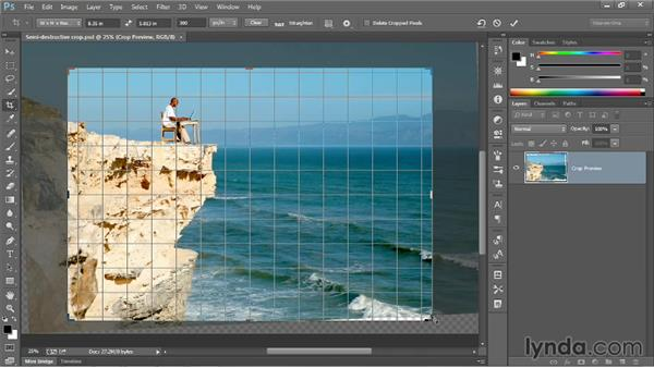 Cropping to a specific ratio or size: Photoshop CC 2013 One-on-One: Fundamentals