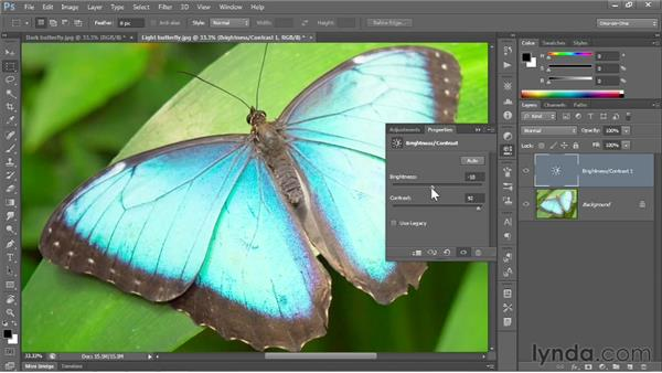 The dynamic adjustment layer: Photoshop CC 2013 One-on-One: Fundamentals
