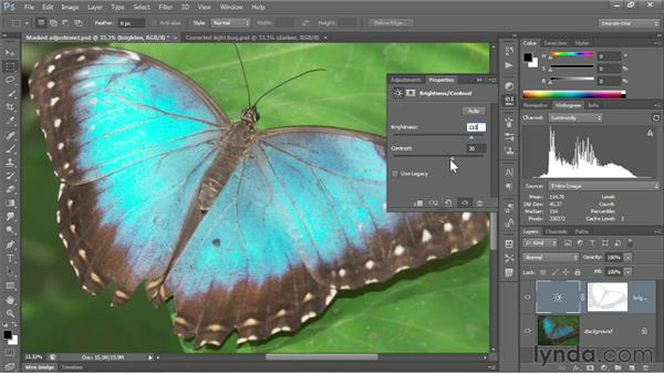Measuring an adjustment: Photoshop CC 2013 One-on-One: Fundamentals