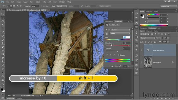 Summoning colors where none exist: Photoshop CC 2013 One-on-One: Fundamentals