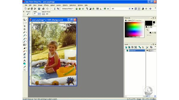 removing scratches: Learning Jasc Paint Shop Power Suite Photo Edition