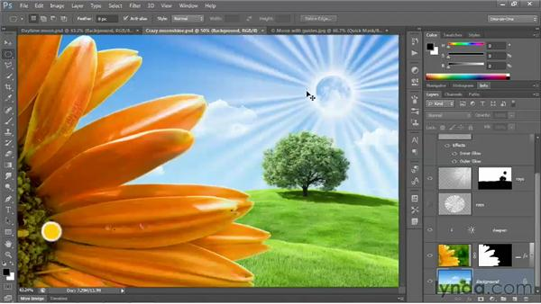 Cropping one selection inside another: Photoshop CC 2013 One-on-One: Fundamentals