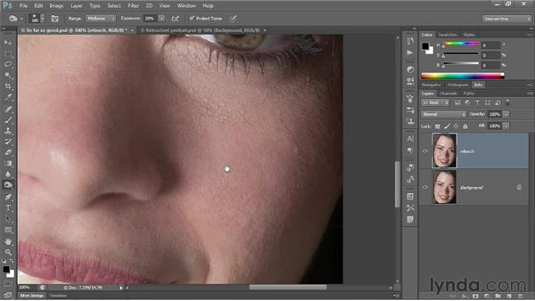 The Dodge and Burn tools: Photoshop CC 2013 One-on-One: Fundamentals