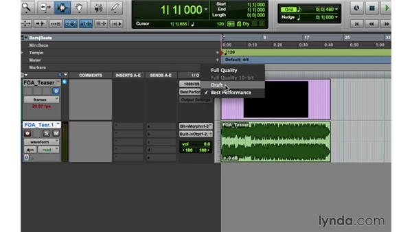 Working with the new video features: Pro Tools 11 New Features