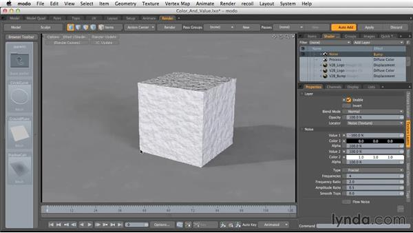 Color vs. value textures: Light and Texture for Product Visualization in MODO