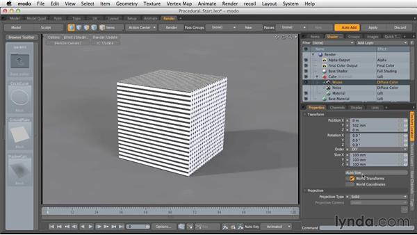 Basic procedural textures: Light and Texture for Product Visualization in MODO